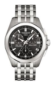 Tissot Swiss Made PRC 100 Chronograph Black Men's Titanium Watch T0084174406100
