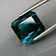 4.42Ct.Ravishing Color! Natural Blue Tourmaline Mozambique Perfect Shape!