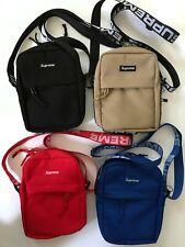 Supreme SS18 Shoulder Bag - BLACK - RED - BLUE- BIEGE NWT