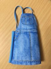 Barbie Doll Fashionistas Outfit Denim Jeans Jumper Skirt Dress W/ Faux Pockets