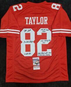 JOHN TAYLOR Signed Autographed SF 49ERS Red Custom Jersey XL. JSA WITNESS