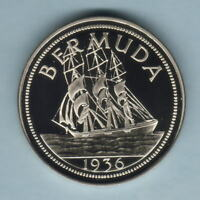Bermuda. c1980s  Edward VIII (1936) - Fantasy Crown.. Cupro-Nickel - Prooflike