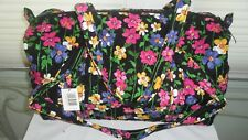 Vera Bradley Small Duffel Bag WILDFLOWER GARDEN NWT Luggage Piece, Carryon