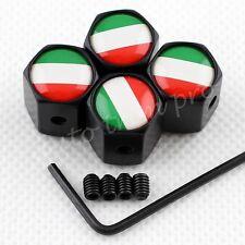 Anti-theft Wheels Rim Tire Tyre Valve Stem Caps Cover Italy IT Flag Badge Parts