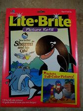 Vintage Lite Brite SEA WORLD - SHAMU and his crew - Refill Set SEALED