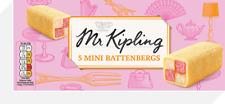 Mr Kipling 5 Mini Battenbergs - 2 Packs