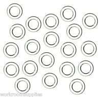 25  CLEAR PLASTIC ROMAN BLIND RINGS - 13MM