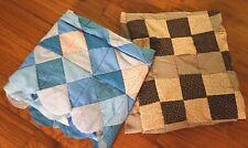 2Cotton Quilt Tops Blocks Cotton Fabric Hand Pieced Machine Sewn