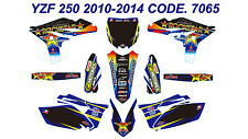 7065 YAMAHA YZF 250 2010 2011 2012 2013 Autocollants Déco Graphic Sticker Decal