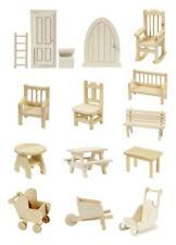 Wichtelmöbel Holz Tür Wichteltür Möbel für Wichtel Elfen Feen Stuhl Tisch Bank