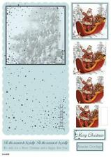 Craft del Reino Unido Die Cut concepto Kit Tarjeta 933-Padre De Navidad / Santa's Trineo