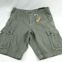 American Eagle Outfitters Mens Cargo Shorts Longer Length Size 34 Taupe Cotton
