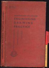 Vintage 191pg AUSTRALIAN ENGINEERING DRAWING PRACTICE Draftsman skills Hardcover