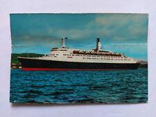 Queen Elizabeth II Cruise Ship Vintage colour Postcard c1970s