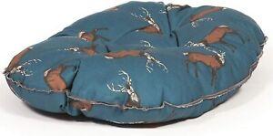 "Danish Design Pet Dog Bed Woodland Stag Deep Filled Quilted Mattress 18"", Blue"