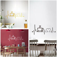 Kitchen Coffee House Cup Wall Sticker Vinyl Decal Mural Home Decor Removable