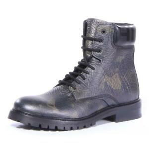 Hugo Boss Men Explore_Halb_Grprcm Boots Shoes Dark Green, Size 10