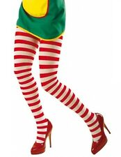 Red and White Striped Tights Hosiery XL Plus Size Fancy Dress  (16-20)