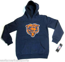 Chicago Bears NFL Pullover Blue Logo Hoodie Sweat Shirt Jacket Youth Small 8