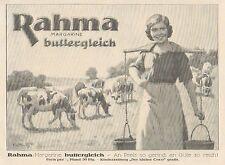 Y4123 RAHMA Margarine buttergleich - Pubblicità d'epoca - 1925 Old advertising