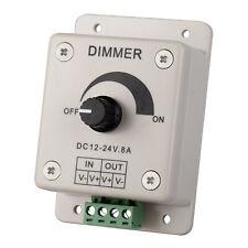DC 12V 8A LED Dimmer Controller Light Switch One Strip Knob Manual Bright Dark
