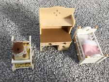 Sylvanian Families Nursery Set with Pushchair and Baby Figure