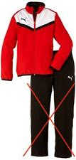 Puma Unisex - Kinder Trainingsjacke BTS Woven, red-white, 164, 654410 01