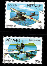 VIET NAM SCOTT# 1796 & 1799 USED  AIRPLANE (SEAPLANES)