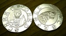 Eddard Stark Silver Stag, Game of Thrones Coin, Die-2, .999 pure silver 1/10oz