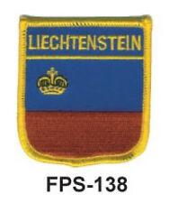 2-1/2'' X 2-3/4 LIECHTENSTEIN Flag Embroidered Shield Patch- Officially Licensed