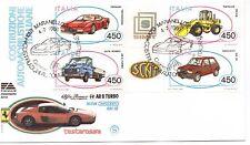 1986 REPUBBLICA BUSTA FDC AUTOMOBILI V/57