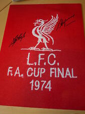 Kevin Keegan & Steve Heighway Signed 16x12 1974 FA Cup Final Liverpool FC Photo