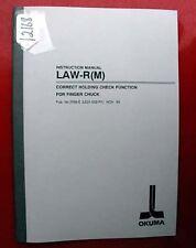 Okuma Law-R(M) Instruction Manual Pub. #3768 (Le21-002-R1) (Inv.12168)