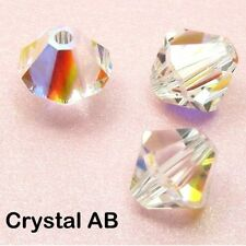 Genuine Swarovski 5328 Xilion Bicone Crystals Beads * Many Colors With Effects Crystal Aurore Boreale 6mm - 10 Pieces/pack