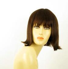 Perruque femme 100% cheveux naturel châtain ref FRANCOISE 6