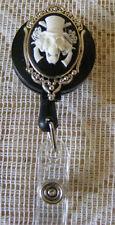 Skull Skeleton Gothic 3D Cameo ID Badge Tag Locker Key Card Holder Reel Lanyard