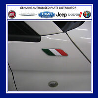 Fiat 500 Italian Flag Wing Badges Emblem Motif Pair New and Genuine 50901681