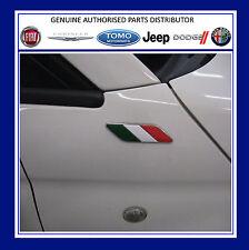 Fiat 500 bandera italiana Ala insignias Emblema Motivo Nuevo y Original 50901681