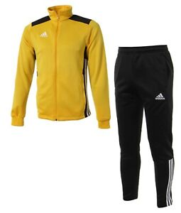 Adidas Men Regista 18 PES Training Suit Set Yellow Jacket GYM Pant CZ8625-CZ8634