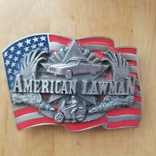 "Vintage 1992 Siskiyou American Lawman Belt Buckle ""To Serve and Protect""  USA"