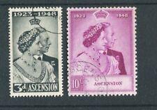 Ascension KGVI 1948 Royal Silver Wedding SG50/1 used