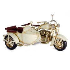 SIDECAR MOTO MODELLO IN LATTA GIOCATTOLO SOPRAMMOBILE DA COLLEZIONE