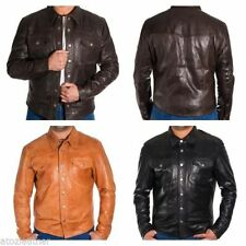 Popper Leather Bomber, Harrington Coats & Jackets for Men