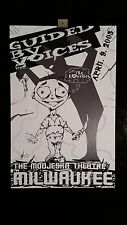 Guided By Voices Milwaukee 4/9/03 GBV Bob Pollard Concert Poster Signed #'d