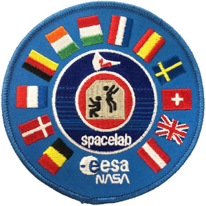 NASA ESA Joint Spacelab Missions International Flags Embroidered Patch