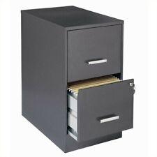 Scranton Amp Co 2 Drawer Letter File Cabinet In Charcoal
