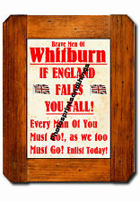TYNE & WEAR - WHITBURN - WW1 STYLE - REPRO TOWN RECRUITMENT POSTER