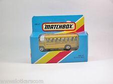 Matchbox Superfast MB 47 School bus / bus scolaire américain Neuf/Boite (#T5D)