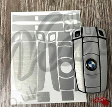 Brushed Aluminium Key Fob Wrap Cover Overlay BMW 1 3 5 6 Series Z4 X1 3 X5 X6 M