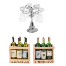 MagiDeal 1/12 Miniatur Champagner Bierflaschen & Silberbecherhalter mit